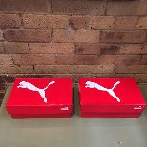 2 Empty PUMA Sneaker Boxes